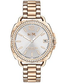 COACH Women's Tatum Carnation Gold-Tone Stainless Steel Bracelet Watch 34mm 14502590