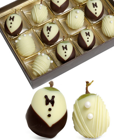 Golden Edibles� 12-Pc. Wedding Belgian Chocolate Covered Grapes