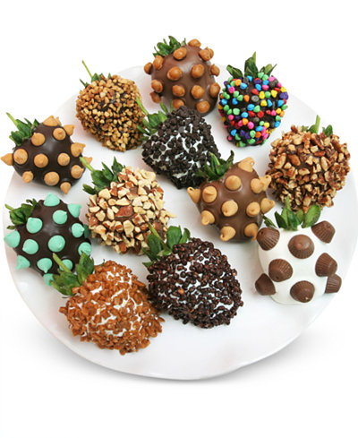 Chocolate Covered Company 12-Pc. Ultimate Toppings Chocolate Covered Strawberries