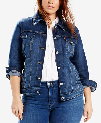 Levi's® Plus Size Trucker Denim Jacket - Jackets & Blazers - Plus ...