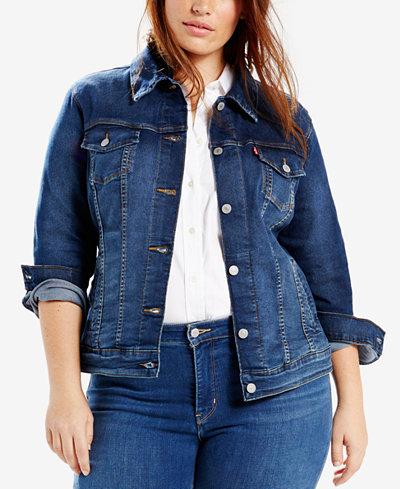 Levi's® Plus Size Trucker Denim Jacket - Jackets & Blazers - Plus ...