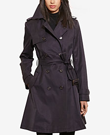 Lauren Ralph Lauren Double-Breasted Trench Coat, Created for Macy's