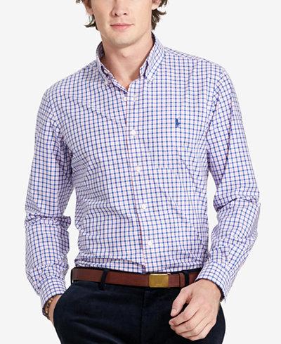 Polo Ralph Lauren Men's Relaxed-Fit Checked Poplin Shirt