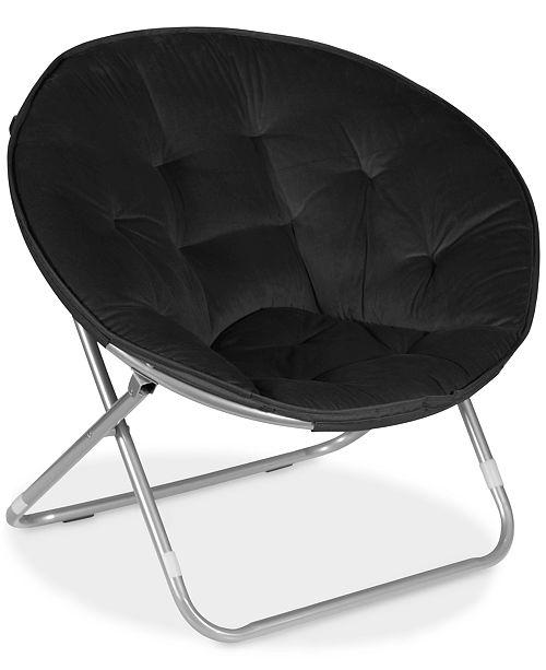 Idea Nuova Arron Microsuede Saucer Chair, Quick Ship