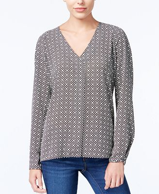 Macys Womens Long Sleeve Blouse 37