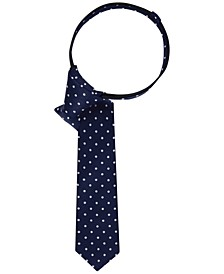 Dot-Print Zipper Tie, Big Boys