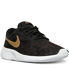 Nike Big Boys'   Tanjun Print Casual Sneakers from Finish Line