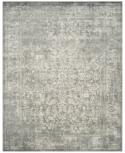 CLOSEOUT! Safavieh Evoke EVK256S Silver/Ivory Area Rugs