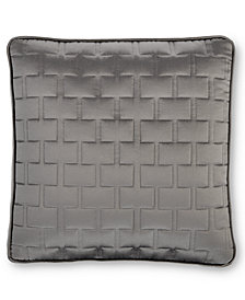 "Hotel Collection Frame Quilted 16"" Square Decorative Pillow"