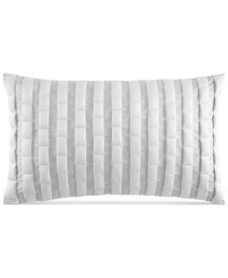 "Modern Plaid 12"" x 20"" Decorative Pillow, Created for Macy's"