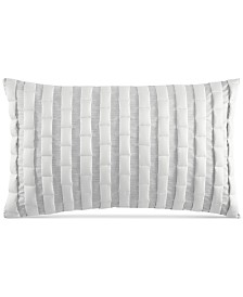 """CLOSEOUT! Hotel Collection Modern Plaid 12"""" x 20"""" Decorative Pillow, Created for Macy's"""