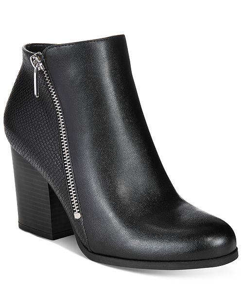 Bar III Pieta Zipper Block-Heel Booties, Created for Macy's