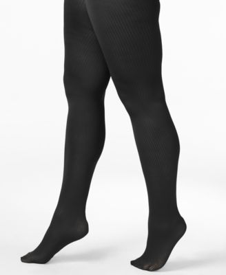 Berkshire Womens Plus Size Easy-On Ribbed Tights 5038
