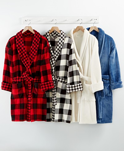 CLOSEOUT! Martha Stewart Collection Plush Robe, Created for Macy's