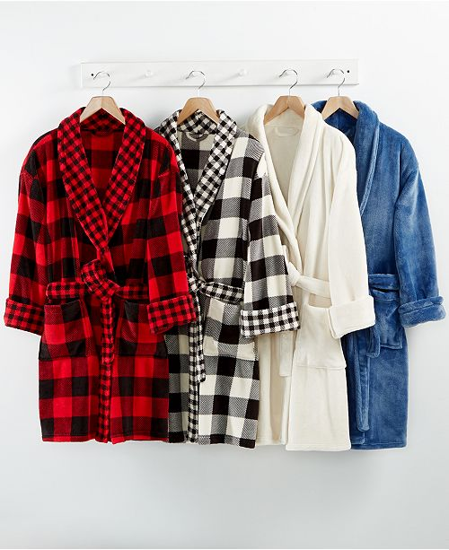 Martha Stewart Collection CLOSEOUT! Plush Robe, Created for Macy's