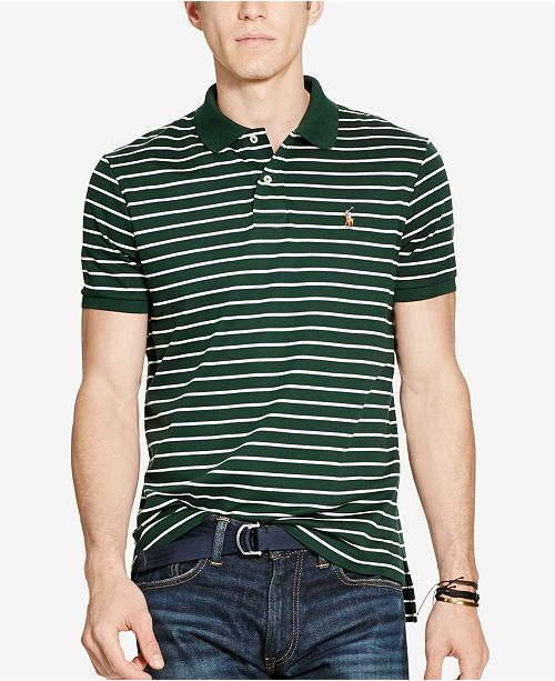 8ad55205 Polo Ralph Lauren Men's Striped Pima Cotton Soft-Touch Polo ...