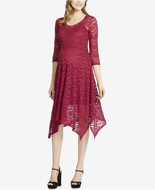 305e11e6911c2 Jessica Simpson Maternity Lace Handkerchief-Hem Dress & Reviews ...
