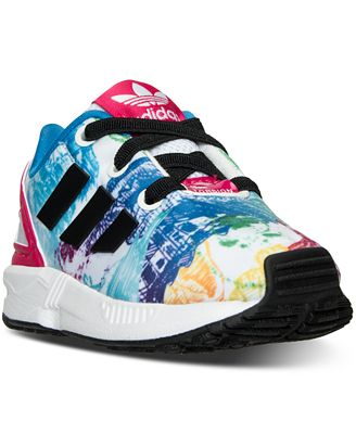 best loved 9e9bf 934c0 promo code girls toddler adidas zx flux casual shoes dc19c 06973