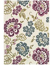 Couristan Dolce Indoor/Outdoor Tivoli Ivory-Multi Area Rugs