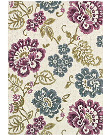"Couristan Dolce Indoor/Outdoor Tivoli Ivory-Multi 5'3"" x 7'6"" Area Rug"