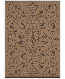 CLOSEOUT! Recife Indoor/Outdoor Veranda Cocoa-Black Area Rugs