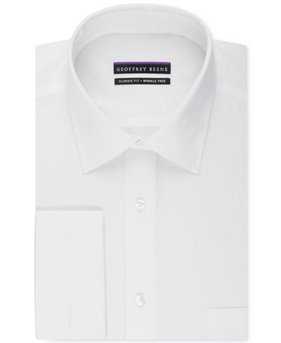 Geoffrey beene men 39 s big tall classic fit bedford cord for Big and tall french cuff dress shirts