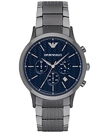 Men's Chronograph Renato Gunmetal Stainless Steel Bracelet Watch 43mm AR2505