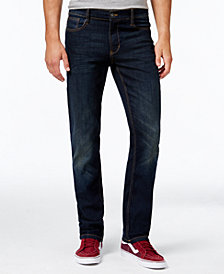 Ring of Fire Men's Straight Fit Stretch Jeans, Created for Macy's