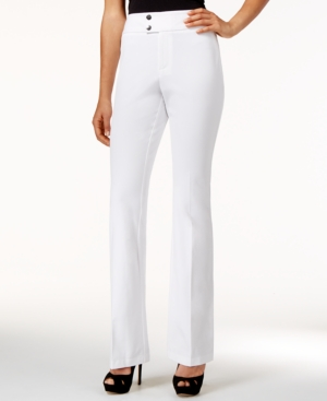 1960s Style Women's Pants Inc International Concepts Flared Curvy-Fit High-Waist Pants Only at Macys $24.99 AT vintagedancer.com