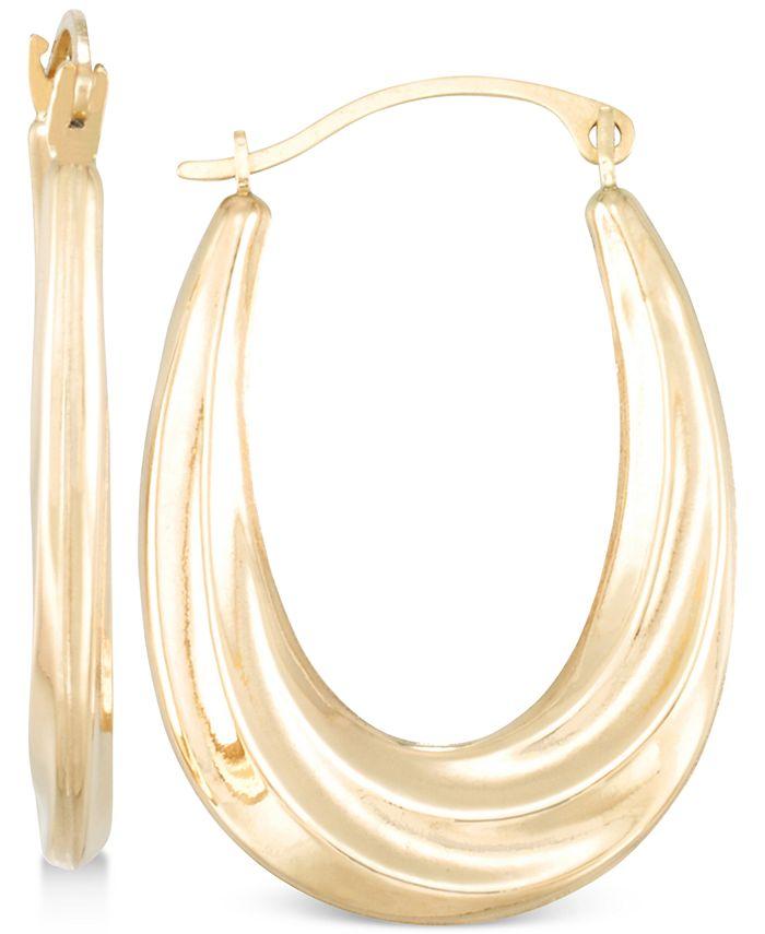 Macy's - Draped-Look Oval Hoop Earrings in 10k Gold