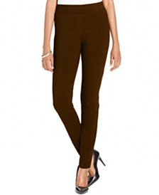 Style & Co Petite Seam-Front Ponte-Knit Leggings, Created for Macy's