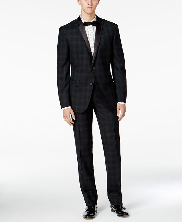 Bar III Men's Slim-Fit Blackwatch Plaid Tuxedo Separates, Created for Macy's