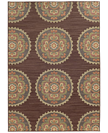 "Tommy Bahama Home Cabana Indoor/Outdoor 501M Brown 3' 10"" x 5' 5"" Area Rug"