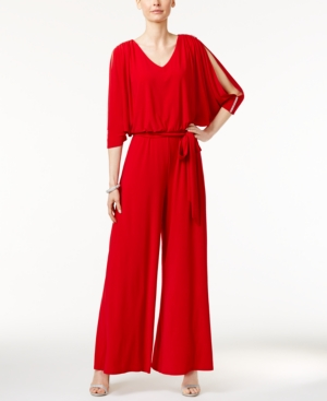 Vintage Overalls 1910s -1950s Pictures and History Msk Embellished Cold-Shoulder Jumpsuit $79.00 AT vintagedancer.com