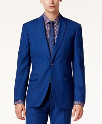 Bar III Men's Cobalt Slim-Fit Jacket, Only at Macy's