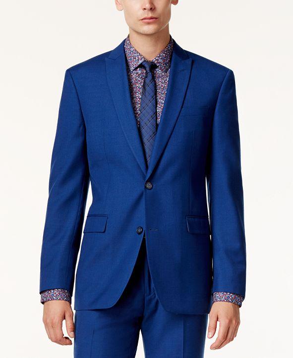 Bar III Men's Cobalt Slim-Fit Jacket, Created for Macy's