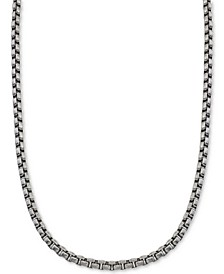 Large Box-Link Chain in Stainless Steel, Created for Macy's