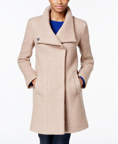 Kenneth Cole Stand Collar Wool-Blend Walker Coat - Coats - Women ...