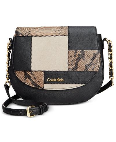 Calvin Klein Saffiano Leather Crossbody Bag 71
