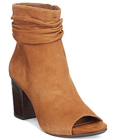 Kenneth Cole Reaction Frida Cool Slouchy Peep Toe Ankle Booties
