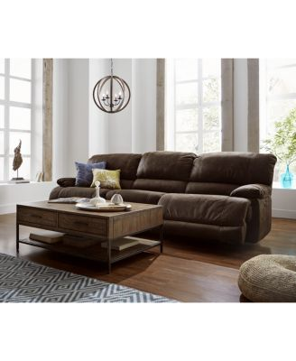 Jedd 2-Piece Fabric Sectional Sofa with 2 Power Recliners, Created ...