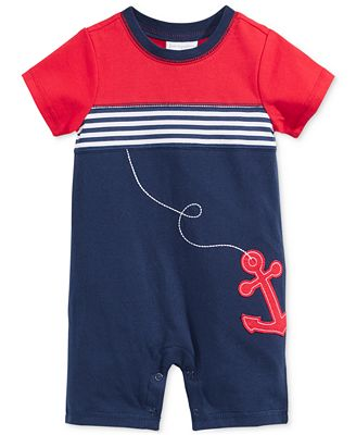 First Impressions Baby Boys' Anchor Romper, Only at Macy's