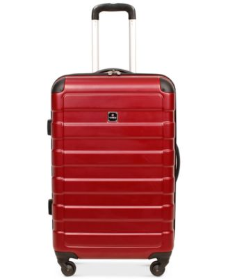"Image of Tag Matrix 24"" Hardside Spinner Suitcase, Only at Macy's"