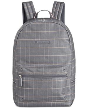Tommy Hilfiger Men's Alexander Coated Cotton Plaid Backpack