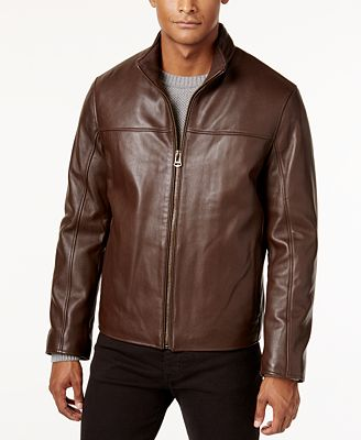 Cole Haan Men S Leather Jacket Coats Jackets Men Macy S
