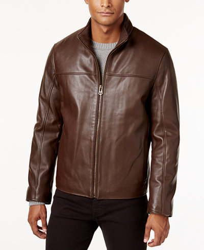 Cole Haan Men's Leather Jacket - Coats & Jackets - Men ...