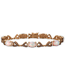 Le Vian® Chocolatier Opal (4-1/5 ct. t.w.) and Diamond (1-1/2 ct. t.w.) Link Bracelet in 14k Rose Gold, Created for Macy's