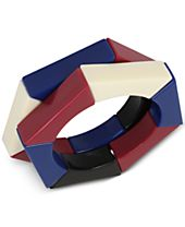 IRIS X INC International Concepts 2-Pc. Set Colorful Acrylic Hexagon Stretch Bracelets, Created for Macy's