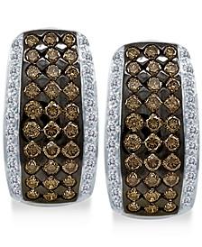 Chocolatier®  Diamond Hoop Earrings (2 ct. t.w.) in 14k White Gold