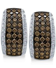 Le Vian Chocolatier®  Diamond Hoop Earrings (2 ct. t.w.) in 14k White Gold